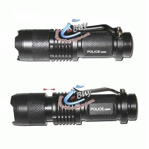 Senter Berburu LED Police Lalulintas Lalin SWAT Cree T6 Q5