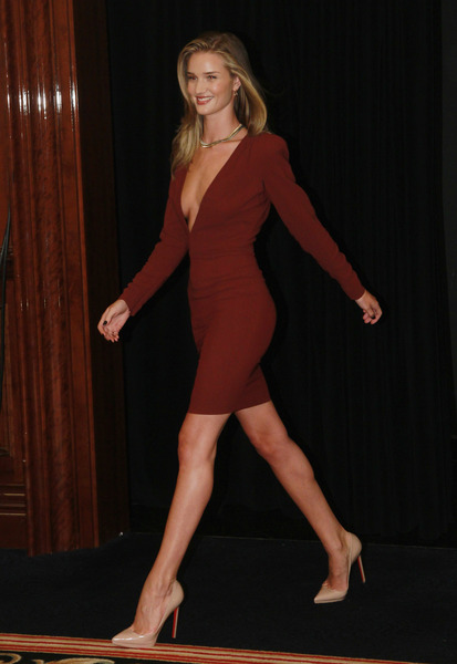 Rosie Huntington Whiteley 25Jun2011D Low+cut+dress