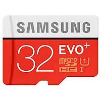 Samsung Evo+ 32GB Class 10 micro SDHC Card + Adapter