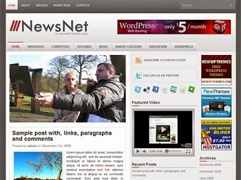 News Net - Free News Blogger Template