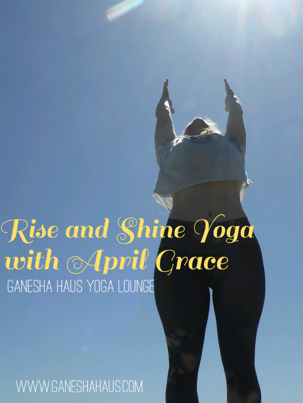April grace yoga rise and shine yoga it feels wonderful to greet the morning with a sun salute it is said that the best time of day is morning simply because your stomach is empty from kristyandbryce Images