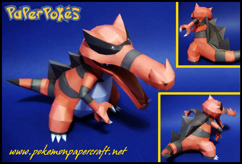 Pokemon Krookodile Paper Model