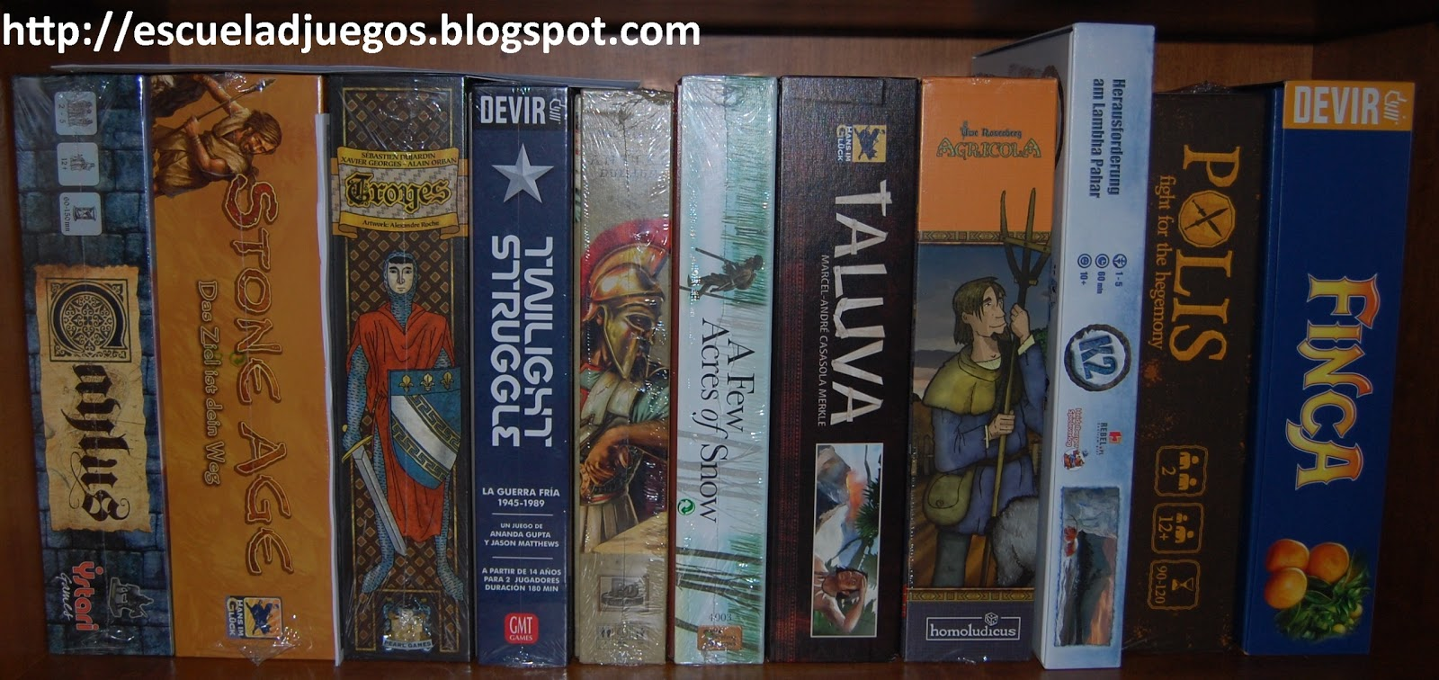 Eurogames, Wargames, Fillers, Temáticos, Abstractos ... juegos de todo tipo