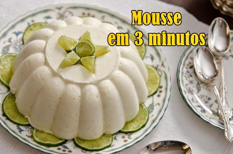 Receita de hoje: Mousse de limão 3 minutos