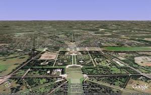 Vista satelital de Versalles