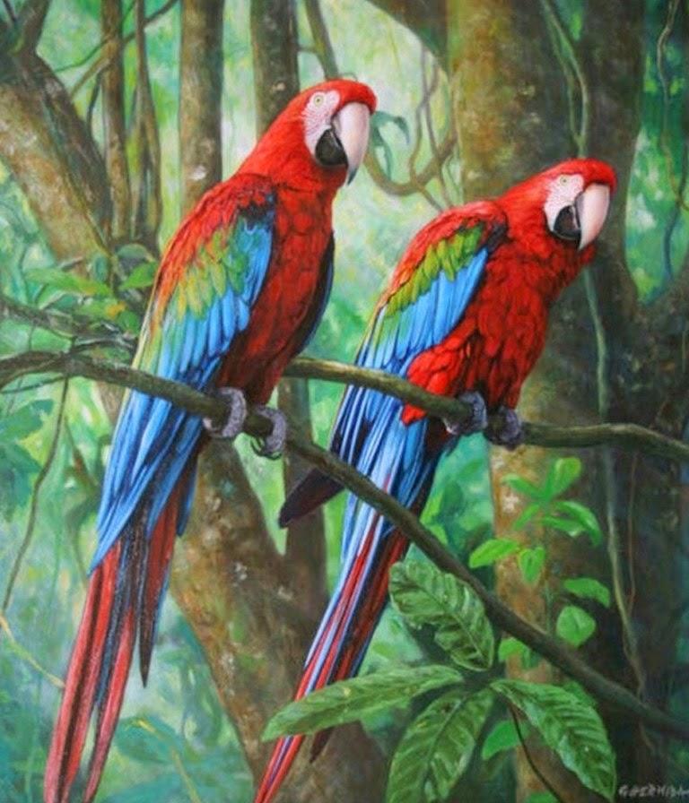 Im genes arte pinturas cuadros de paisajes con aves - Puzzles decorativos ...