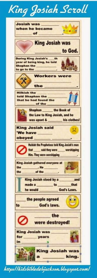 Bible Fun For Kids King Josiah