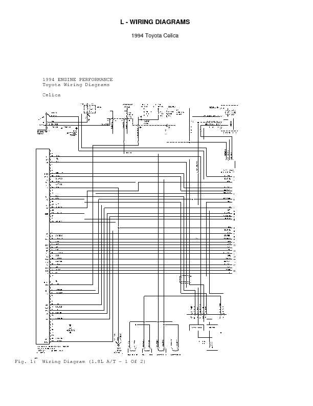1994 Toyota Celica LWiring Diagrams Series Wiring Diagrams Center