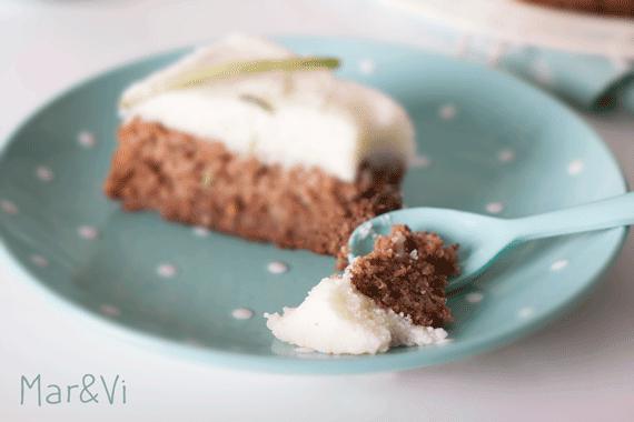 como preparar una tarta de calabacín, lima y nuez