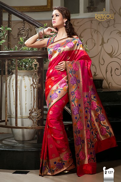 New Design Rangoli Sarees
