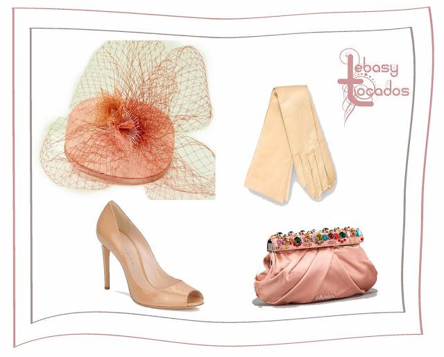 Look en tonos nude rosado con casquete Lebasy al tono.