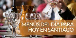 Menú del día en Santigo