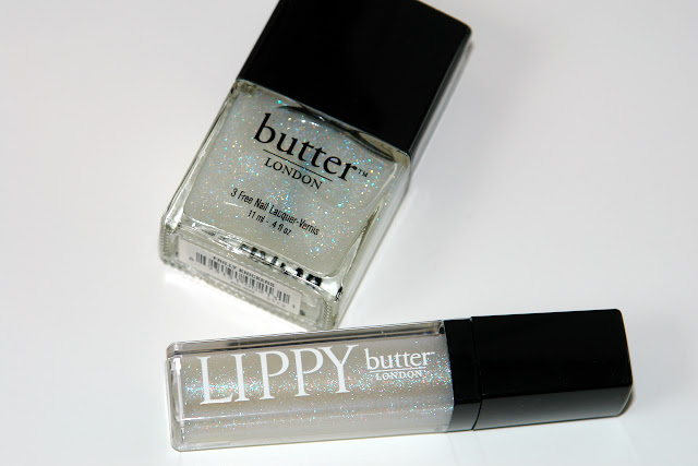 Butter London Lips and Tips Frilly Knickers Set, nail polish, lip gloss, beauty review glitter