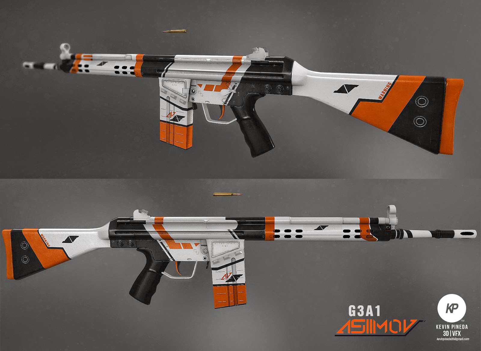 so i made a g3a1 model inspired by a popular cs go skin