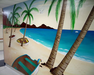 tropical mural wall ideas