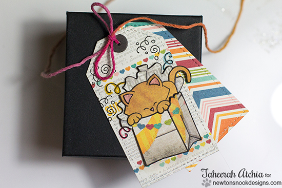 Cat birthday gift tags by Taheerah Atchia for Newton's Nook Designs