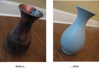 Painting a Vase Before and After