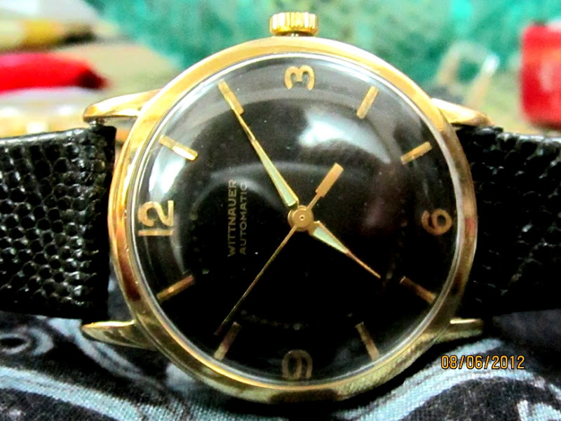 Jacks treasure chest of time pieces authentic vintage solid 14k authentic vintage solid 14k gold wittnauer gents dress watch sold sciox Choice Image