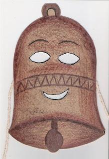 Máscara de sino -símbolo da páscoa