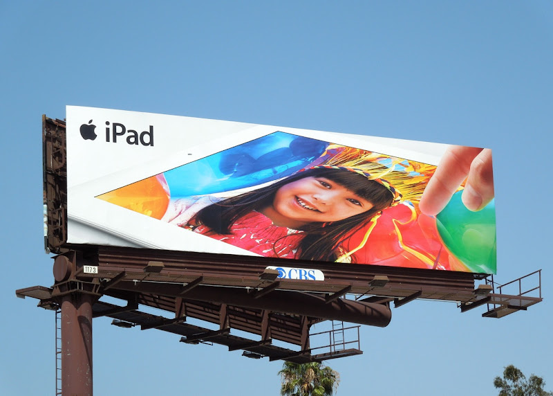 Apple iPad birthday balloons billboard