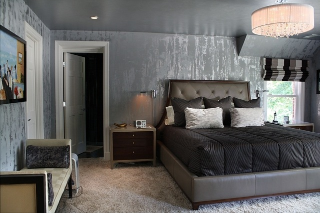 foto colori camere letto - imbianchino foto - | imbianchino roma ... - Decorare Con Le Pareti Grigie E Mobili Beige