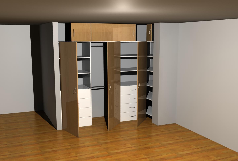 Akire design closets - Armario en esquina ...