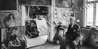 Munch called his paintings 'his children' and littered his studio at Ekely with them. However, despite his fatherly proclamation, many were left in the open air regardless of the weather, while others were strewn across his studio floor.