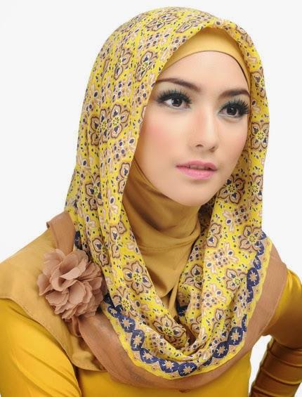 model kerudung elzatta kuning model kerudung jilbab segi empat paris