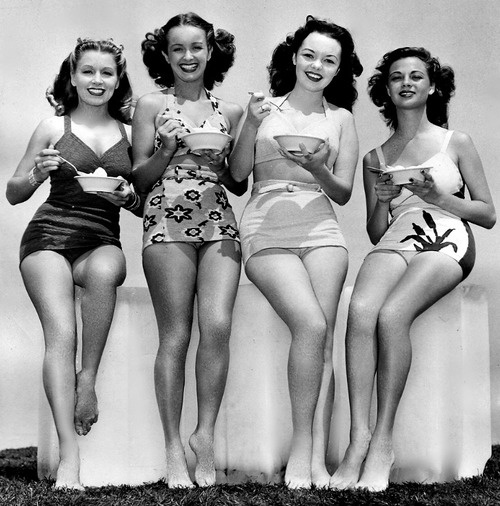 Ice Cream Break! #1940s #1950s #fashion #swimwear