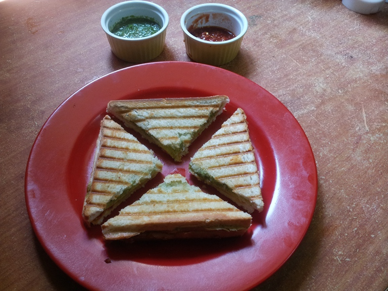 Cooking Video Episode 8 – Tri Colour Griled Sandwich / Chilli & Coriander Chutney Panini Recipe