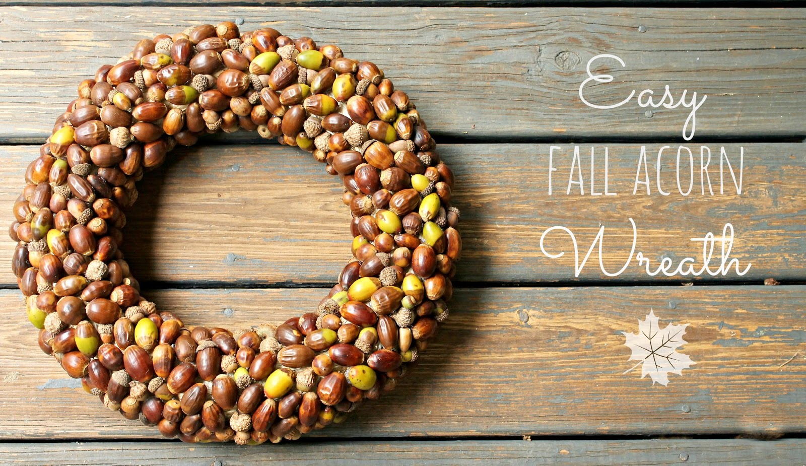 the little farm diary: DIY: Easy Fall Acorn Wreath