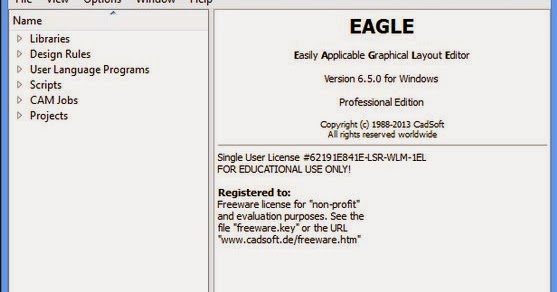 My Crack SOftwares: CadSoft Eagle Professional 6.5 Incl Key Patch