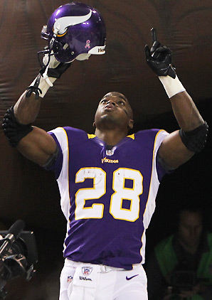 Adrian Peterson Flexing
