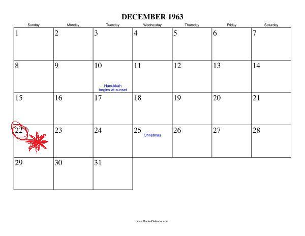 December 1963 - Roman Catholic Saints Calendar