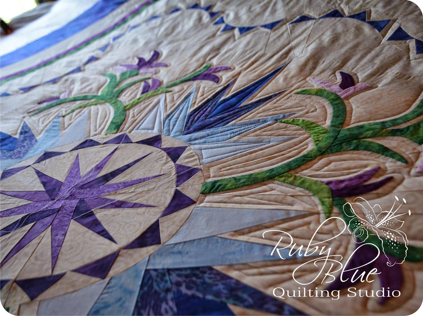Ruby Blue Quilting Studio Machine Quilting Cactus Rose