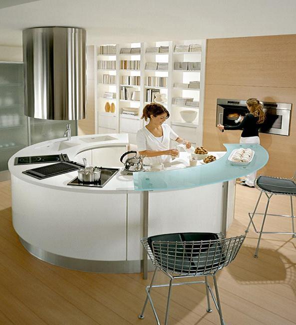 Islas de cocina curvas est tica para tu hogar cocina y for Islas de cocina para cocinas pequenas