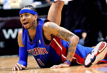 Allen Iverson Tattoos on The Downward Spiral  Allen Iverson  Paid  154 Million To Play A Kid S