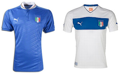 Italy Home+Away Euro 2012 Kits (Puma)