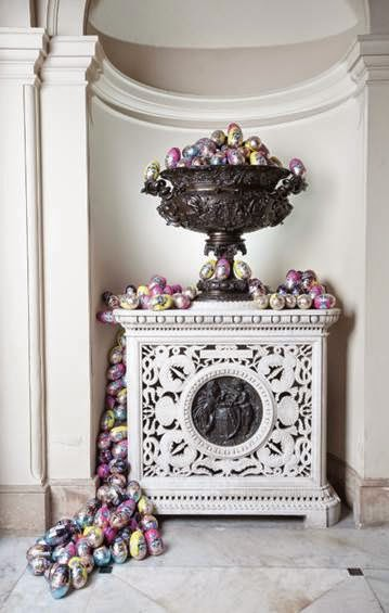 Vase full of Easter Eggs