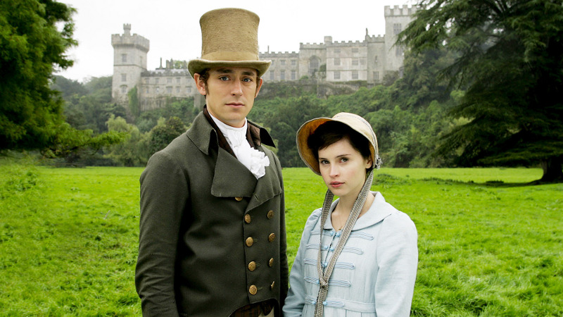 JJ Feild and Felicity Jones in Northanger Abbey