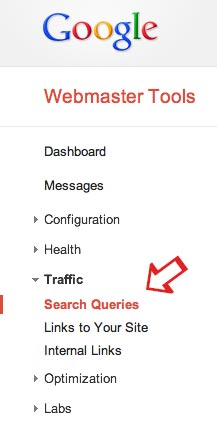 Google Webmaster Tools: Search Queries.