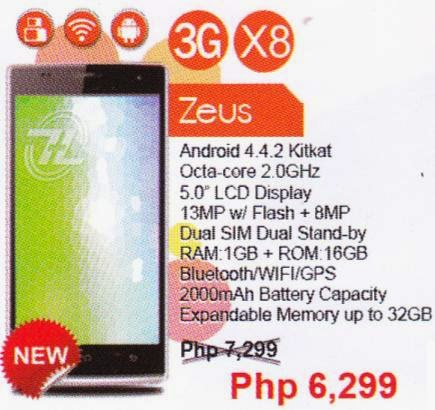 ZH&K Zeus, 5-inch 2GHz Octa Core Phablet for Php6,299
