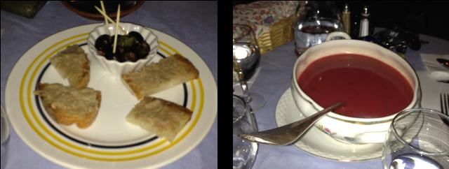 image toast+soupe La Corniche à Saint Antonin Noble Val