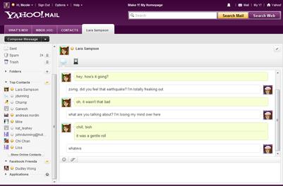 Yahoo Messenger pour le Web