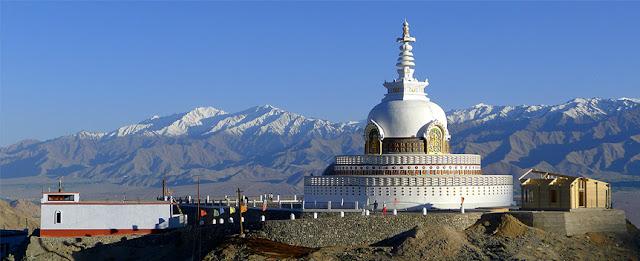 voyage shanti stupa leh Inde