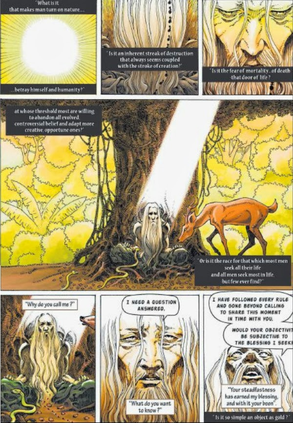 CLASSIC LEGEND: The Hunt For The Lion: a graphic novel which provides an
