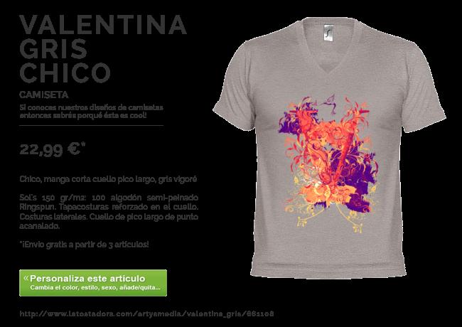 Camiseta VALENTINA GRIS CHICO