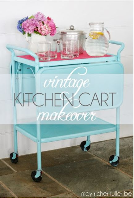 Vintage Kitchen Cart Makeover