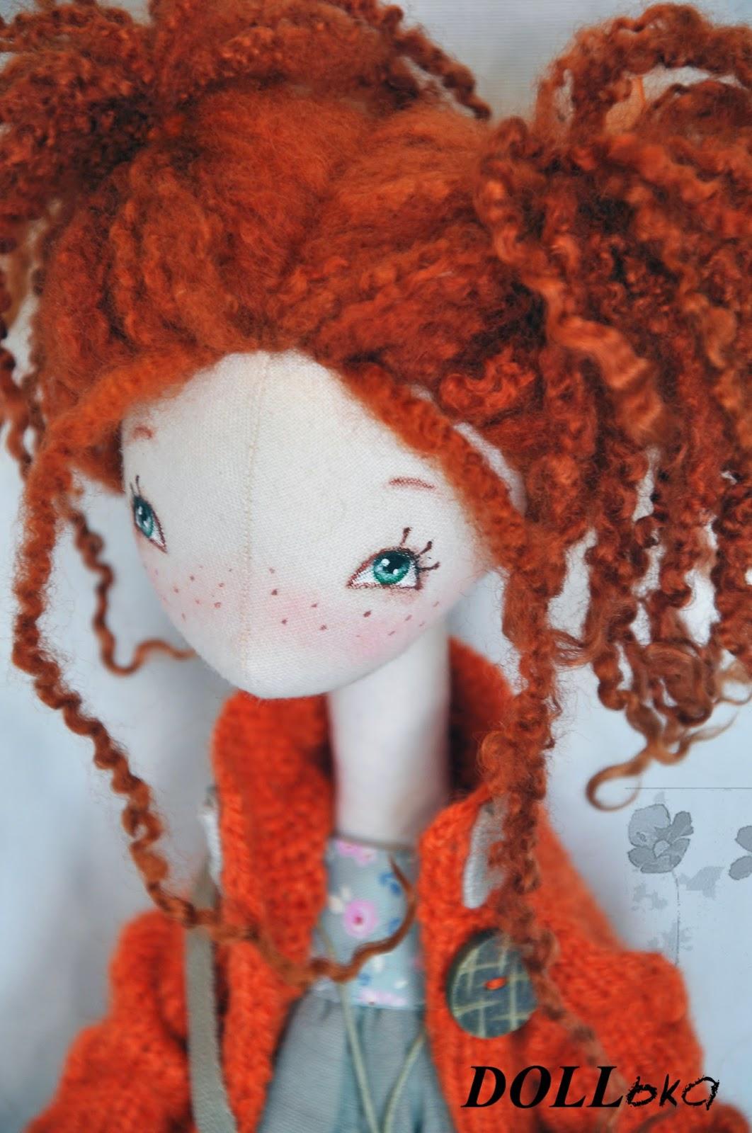 кукла текстильная Пеппи длинный чулок