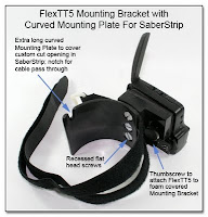 CP1111: FlexTT5 Mounting Bracket with Curved Mounting Plate for SaberStrip - (Inside View with FlexTT5 Attached)